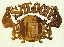 Original Vintage Saloon Iron On Transfer Glitter