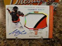 🔥CHANCE SISCO NT ROOKIE 3 COLOR PATCH ON CARD AUTO /25 BALTIMORE ORIOLES🔥