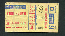 1977 Pink Floyd concert ticket stub The Flesh Tour Animals Madison Square Garden