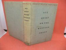 More details for all quiet on the western front old antique ww1 book war trenches remarque 1920s