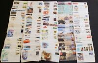 10 DIFFERENT US First Day Covers FDC / Cacheted UNADDRESSED Artcraft Fleetwood