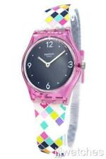 New Swiss Swatch Originals SQUAROLOR Multi-Color Silicone Watch 25mm LP153 $70