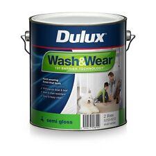 DULUX 4 LITRE INTERIOR WASH/WEAR INTERIOR SEMI-GLOSS VIVID-WHITE COLOUR PAINT