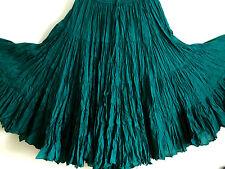 """Teal Jade American Tribal Gypsy 25 yardas danza del vientre falda de algodón 40"""""""