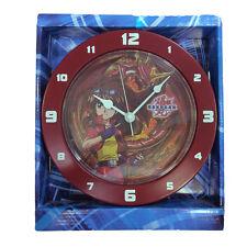 BAKUGAN orologio da parete in plastica rosso bordeaux 21,5 cm diametro