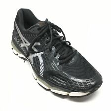 Men's Asics Gel-Nimbus 17 Running Shoes Sneakers Size 12M Black Silver AD10