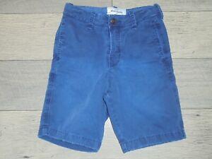 abercrombie blue flat front shorts size 8 Back 2 School