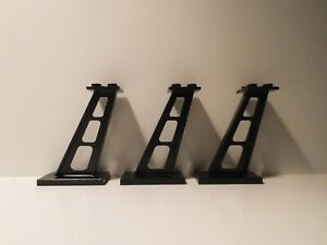 Lego 3 Stütze 2x4x5 schwarz Black Support Monorail 6990 6991 6399