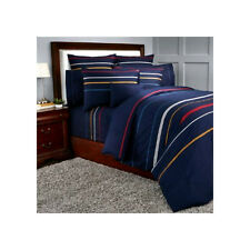 Sonia Rykiel Rue Garanciere Blue King Fitted Sheet Euro Shams Embroidered Stripe