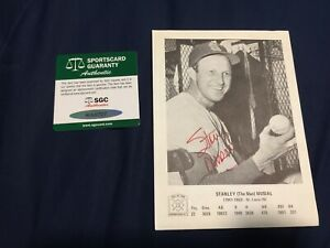 Stan Musial National Baseball Hall of Fame HOF AUTOGRAPH AUTO - SGC Cardinals