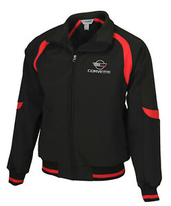 1984-1996 Mens Corvette Fast Lane Classic Jacket with Embroidered C4 Logo 620274