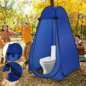 Blue Outdoor Portable Instant Pop Up Tent Shower Toilet Privacy Changing Room UK