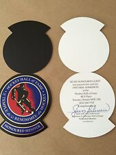 Jean Beliveau autographed Hockey Hall of Fame pass