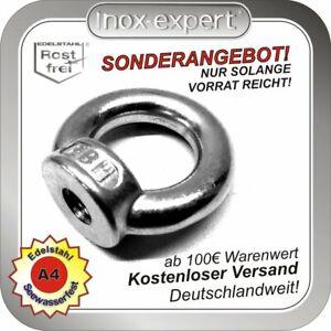 Ringmutter M16 Edelstahl A4 Ring-Mutter ähnlich DIN 582 Augmutter Augenmutter