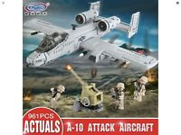 The A10 Fighter Plane 961pcs Building Blocks Set Bricks Army Military DIY Toy