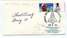 1992 Charles & Brady Jr. Nassau Bay Br. Houston Texas Germany Space Cover SIGNED