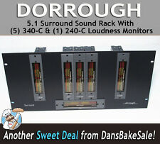 Dorrough 5.1 Surround Sound (5) 340-C & (1) 240-C Loudness Monitors Power Supply
