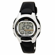 CASIO Pre-Owned Used LW-200-1A Ladies Boys Digital Black Silver  Watch LW-200