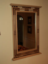 Handcrafted Arts and Crafts Mission/Prairie Style Sycamore & Cherry Mirror