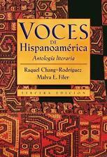 Voces de Hispanoamerica: Antologia literaria (Spanish Edition)