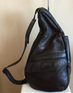 Ameribag Healthy Back Bag Backpack Dark Brown Genuine Leather Made in USA
