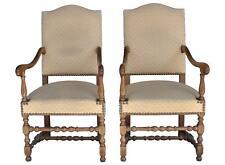 Paire de fauteuil Louis XIII à enroulement en hêtre
