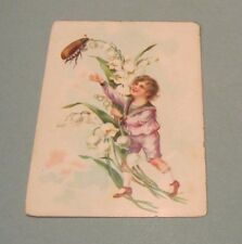 Seybold Piano & Organ Victorian Trade Card Instrument Pictured Large Beetle Bug