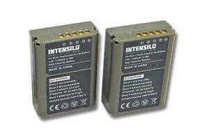 2x Batterie Intensilo 1140mAh pour Olympus PS-BLN1