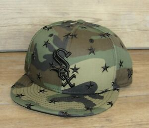 Chicago White Sox New Era 9Fifty Star Scatter Camo Snapback hat cap size Men's