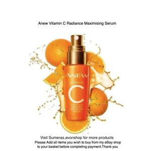 Avon Anew Radiance Maximising Serum Vitamin C 30ml Brightening Serum Free P&P