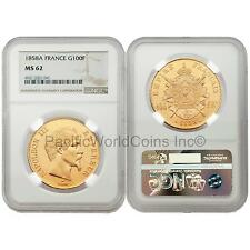 France 1858A Napoleon III 100 Francs Gold NGC MS62