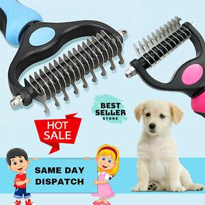 ❤️ Dog Pet DEMAT Tool Cat Comb Brush Grooming Kit Undercoat Rake Demat Hair Tool
