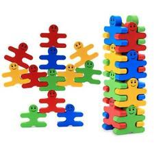 Baby Kids Wooden Villain Toys Blocks Balance Early Education Brick Toys SI