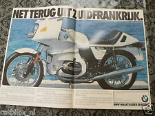 A183- BMW R100RS R 100 RS ADD POSTER 1983 MOTORRAD WHITE  BIKE