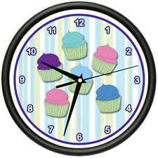 CUPCAKE 1 Wall Clock baker sweets cupcake dessert pastry bakery gag gift