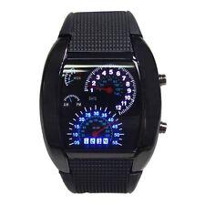 HOT Sport RPM Black Mens Turbo flash LED Sports Car mètres Cadran Montre NOIR EH