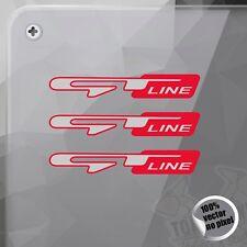PEGATINA KIA GT LINE PICANTO CEED SPORTAGE RED STICKER AUFKLEBER AUTOCOLLANT