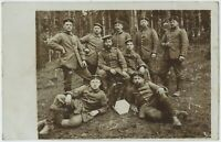 Soldiers Bayer 1915 Feldpost Group Militaria German WW1 Photograph (1045)