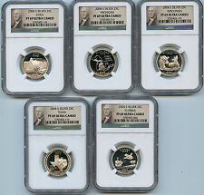 2004 S Silver State Proof Quarter PF69 UCAM NGC 25c Certified 5 Coin Set