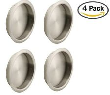 "Nuk3y Easy Snap in Closet Door Finger Pull, 2-1/8"", 4-pack (Satin Nickel)"