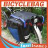 New Bike Bicycle Rear Rack Pannier Bag Waterproof Seat Box Blue
