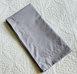 Yves Delorme Roma Platine / Medium Grey Euro Pillow Sham ~ EUC
