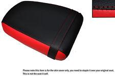Diseño 3 Color Negro Y Rojo Custom encaja Suzuki Gz 125 Marauder Trasera de piel cubierta de asiento