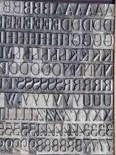 Bleischrift 18 mm  Bleisatz Buchdruck Alphabet Handsatz Bleilettern Typographie