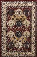 6'x9' Geometric Oriental Hand-tufted Area Rug Traditional Wool Home Decor Carpet