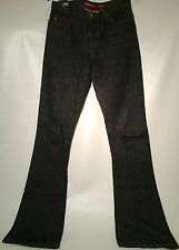 NWOT Miss Sixty women's Tommy style jeans - charcoal w/red stitch - size 29