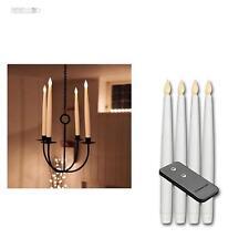 4 Set LED CANDELE 29cm + telecomando, da SENZA FIAMMA