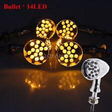 4x Motorcycle BulletLED  Turn Signal Light Blinker Indicator Amber For Yamaha