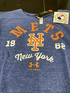 WOMENS MLB UNDER ARMOUR COLDGEAR NEW YORK METS CREW SWEATER BLUE LARGE L NWT