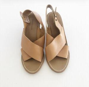 Zimmermann tan leather heels. Made in Brazil. Size 40